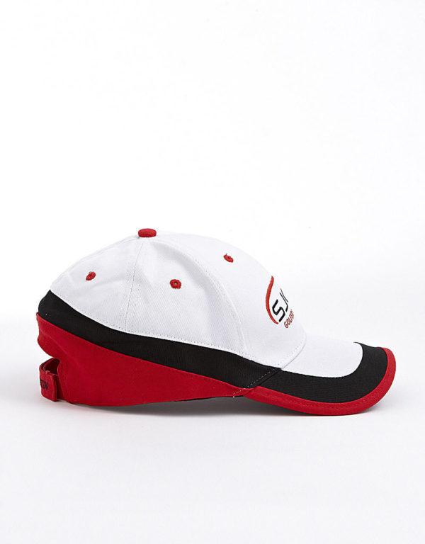 hvid rød og sort kasket
