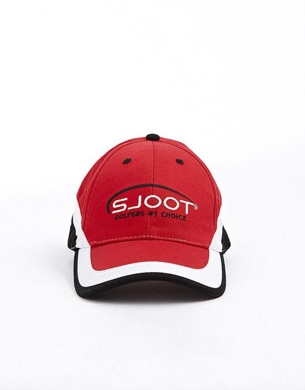 golfkasket rød/sort/hvid front