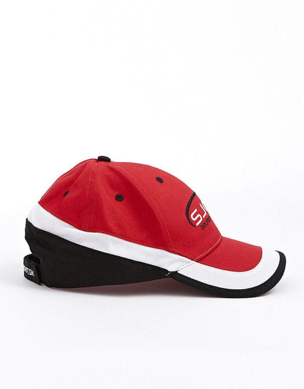 golfkasket rød/sort/hvid side