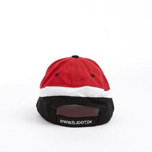 golfkasket rød/sort/hvid