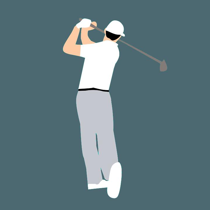 golfspiller karikeret